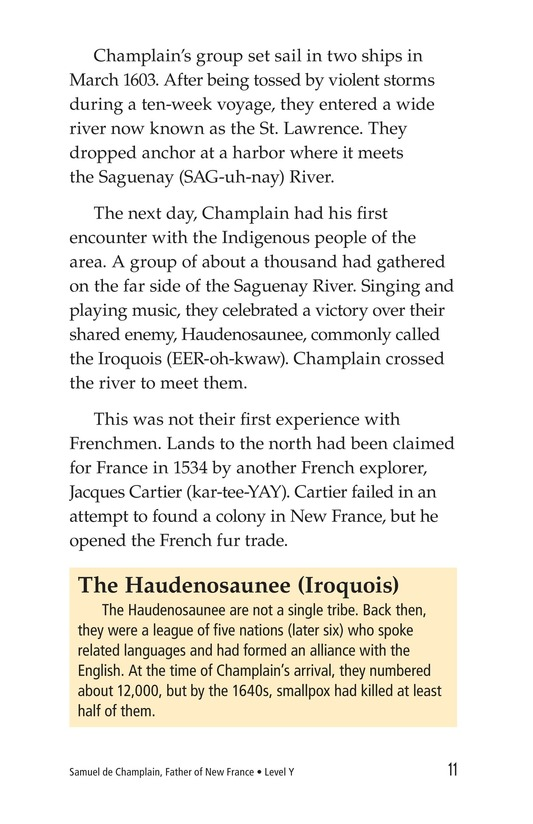 Book Preview For Samuel de Champlain, Father of New France Page 11