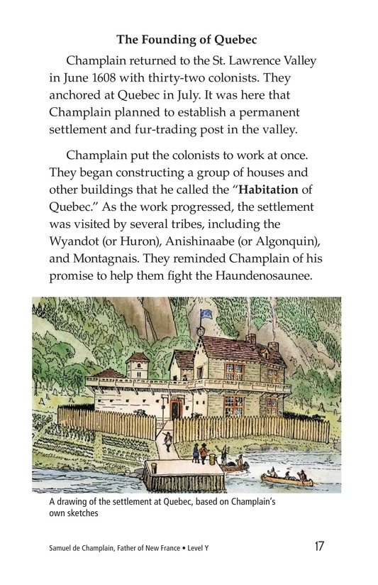 Book Preview For Samuel de Champlain, Father of New France Page 17