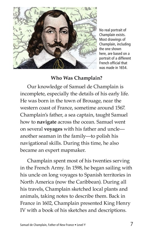 Book Preview For Samuel de Champlain, Father of New France Page 7