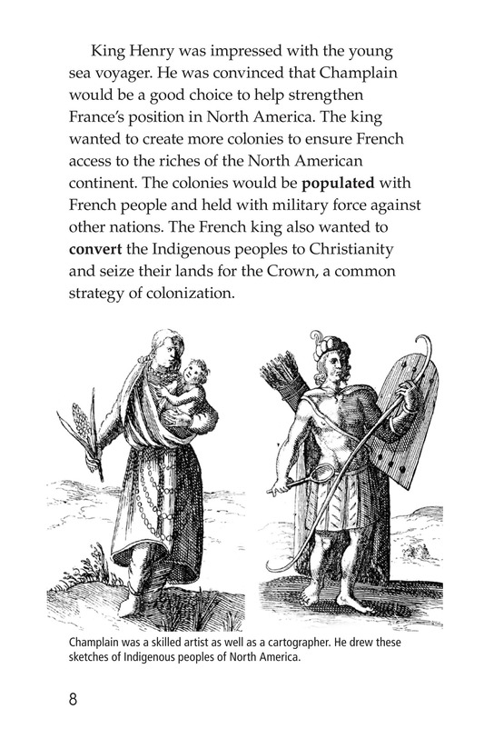Book Preview For Samuel de Champlain, Father of New France Page 8