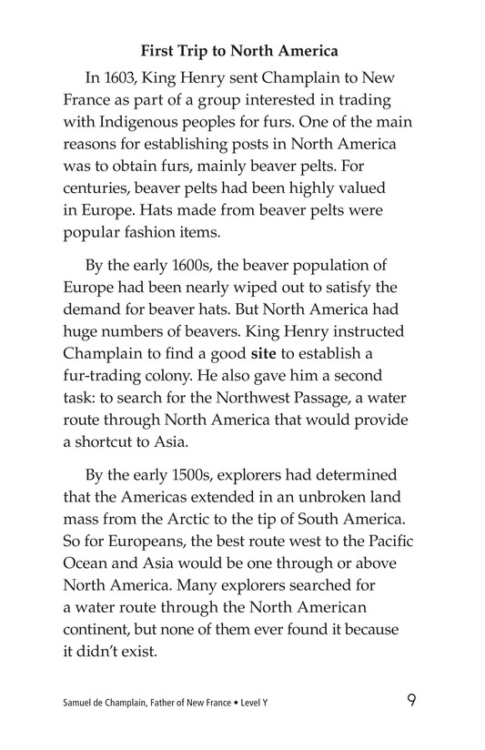 Book Preview For Samuel de Champlain, Father of New France Page 9