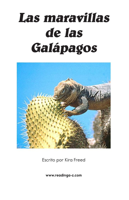 Book Preview For Galapagos Wonder Page 2