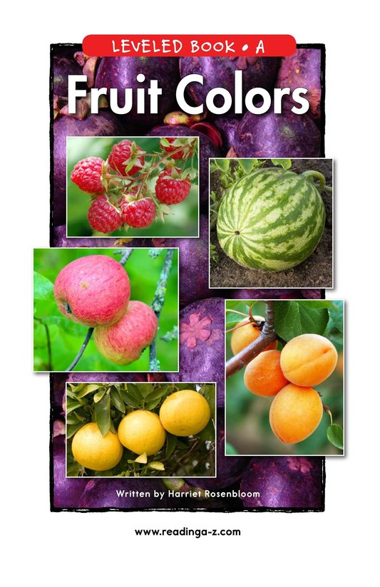 Book Preview For Fruit Colors Page 1
