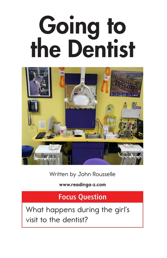 Book Preview For Going to the Dentist Page 1
