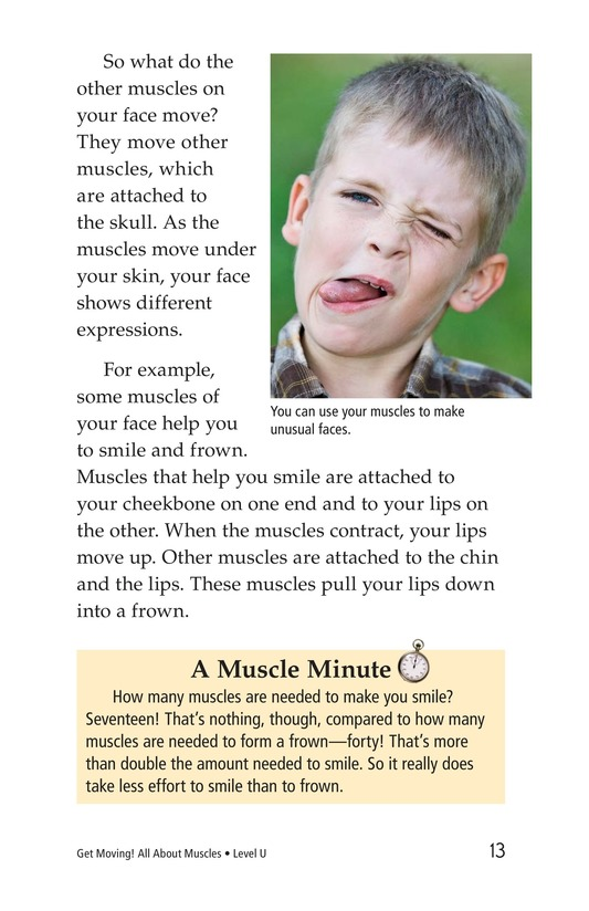 Book Preview For Get Moving! All About Muscles Page 13