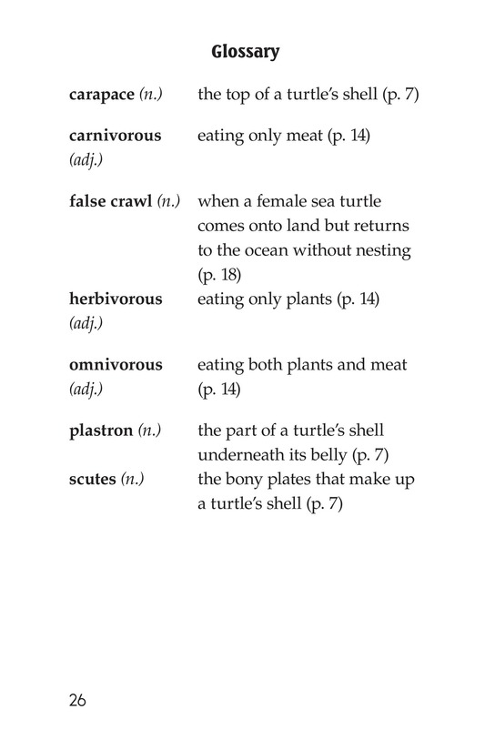 Book Preview For Sea Turtles Page 26