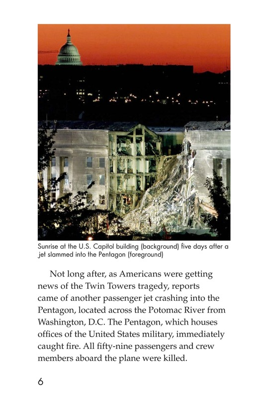 Book Preview For 9/11: A Dark Day Page 6