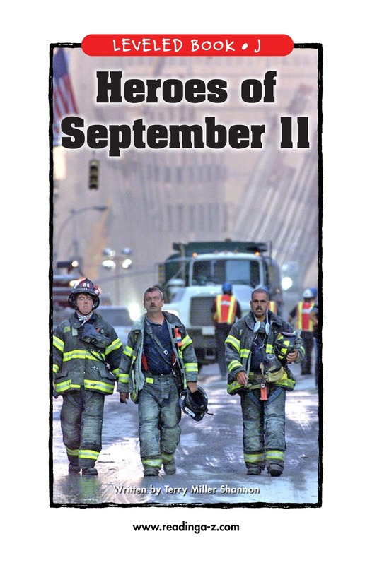 Book Preview For Heroes of September 11 Page 1
