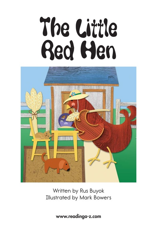 Book Preview For The Little Red Hen Page 2