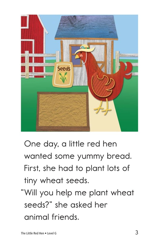 Book Preview For The Little Red Hen Page 3