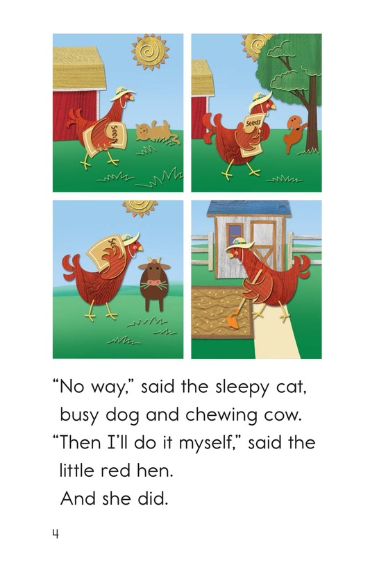 Book Preview For The Little Red Hen Page 4