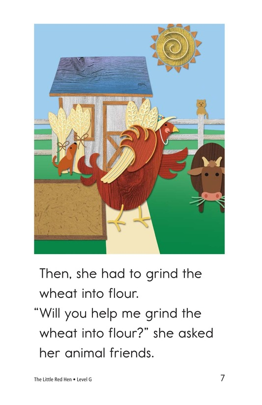 Book Preview For The Little Red Hen Page 7