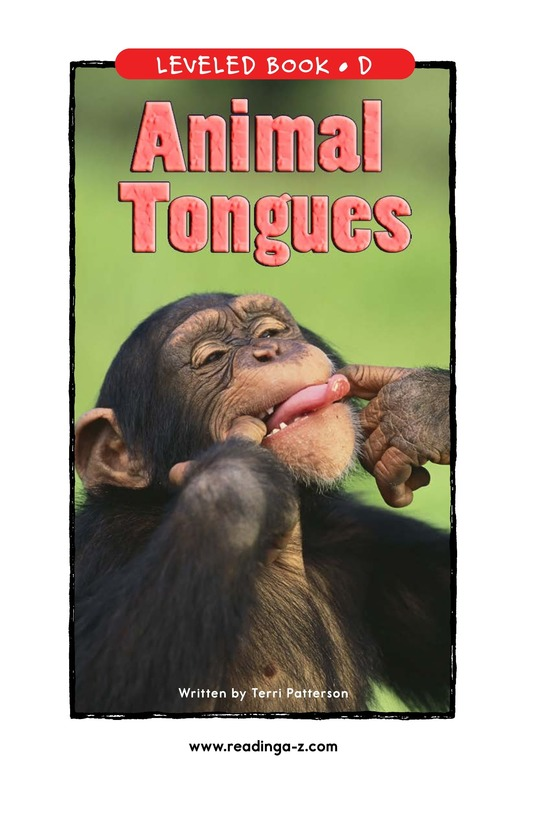 Book Preview For Animal Tongues Page 1