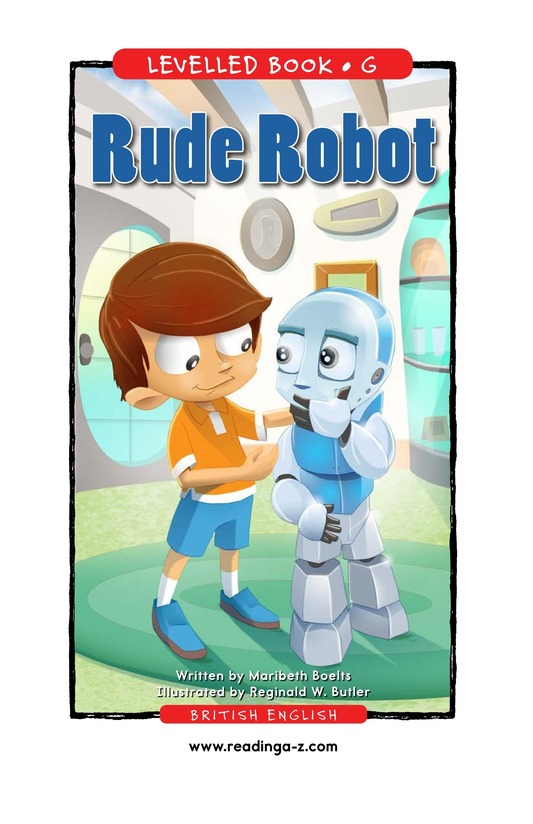 Book Preview For Rude Robot Page 1