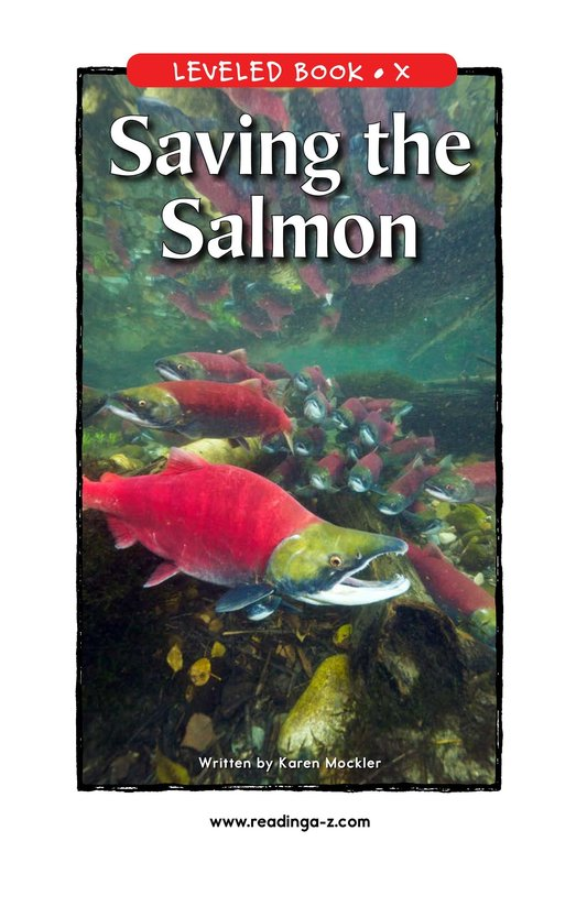 Book Preview For Saving the Salmon Page 1