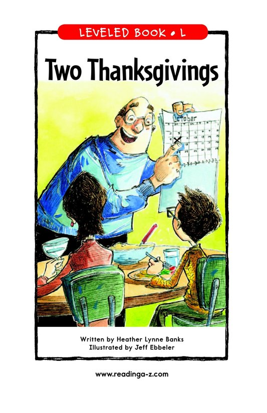 Book Preview For Two Thanksgivings Page 1