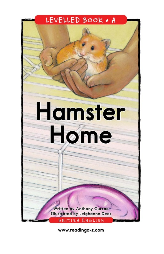 Book Preview For Hamster Home Page 1