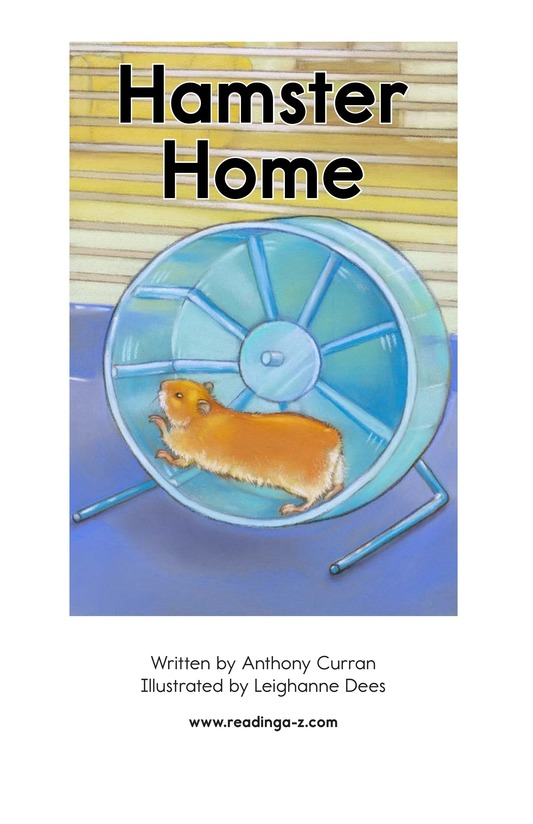 Book Preview For Hamster Home Page 2