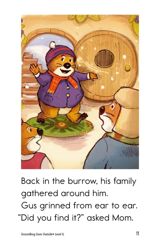 Book Preview For Groundhog Goes Outside Page 11