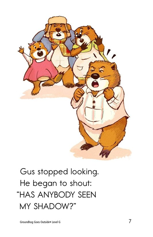 Book Preview For Groundhog Goes Outside Page 7