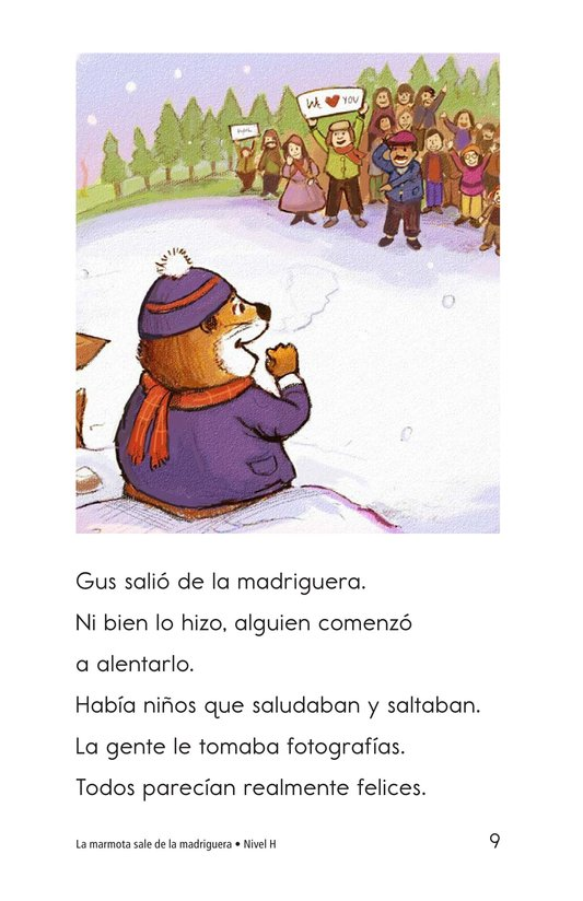 Book Preview For Groundhog Goes Outside Page 9