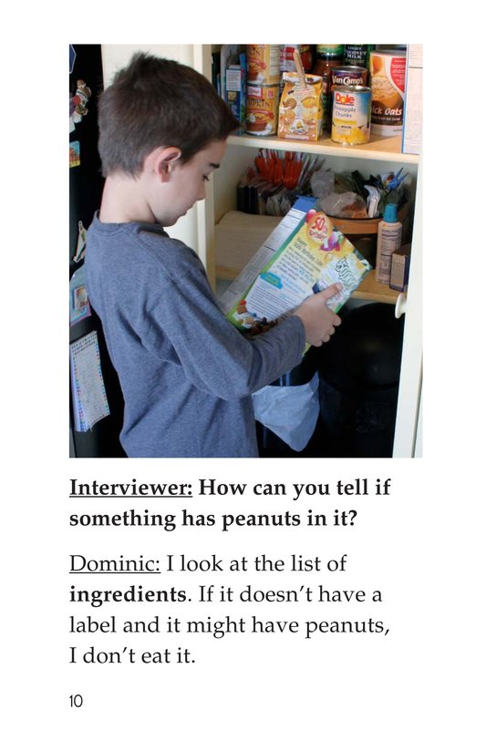 Book Preview For I'm Allergic to Peanuts Page 10