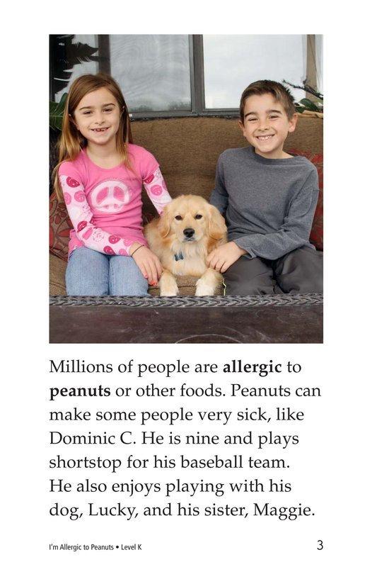 Book Preview For I'm Allergic to Peanuts Page 3