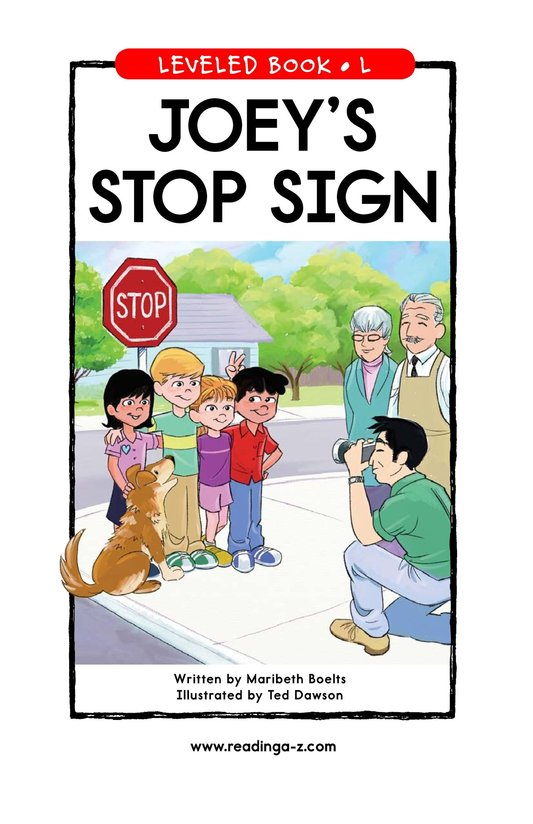 Book Preview For Joey's Stop Sign Page 1