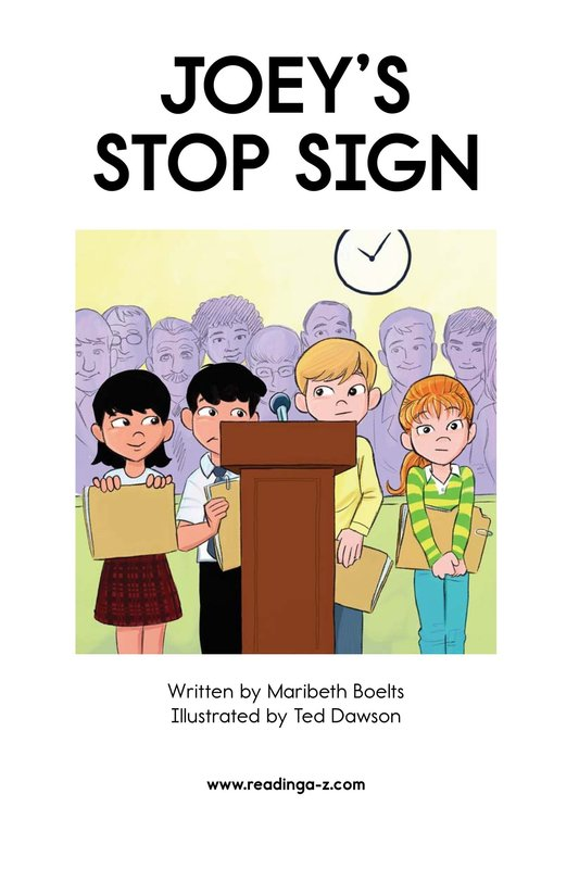 Book Preview For Joey's Stop Sign Page 2