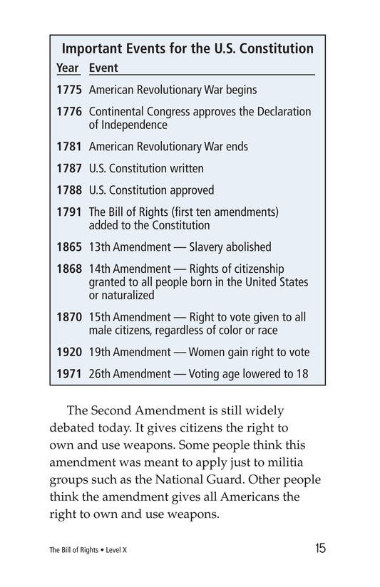 Book Preview For The Bill of Rights Page 15