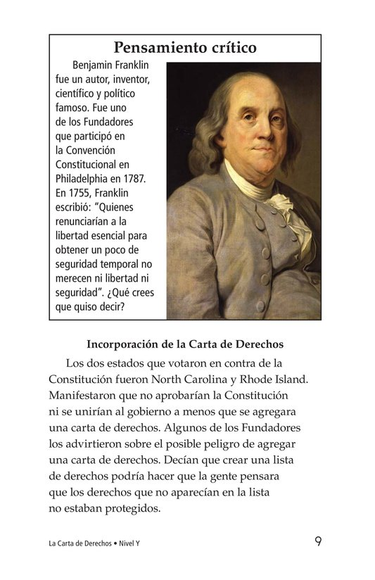 Book Preview For The Bill of Rights Page 9