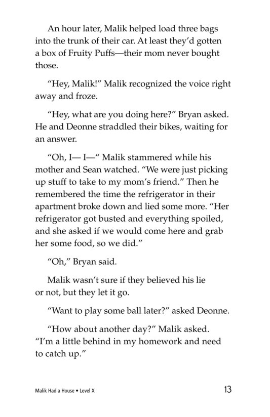 Book Preview For Malik Had a House Page 13