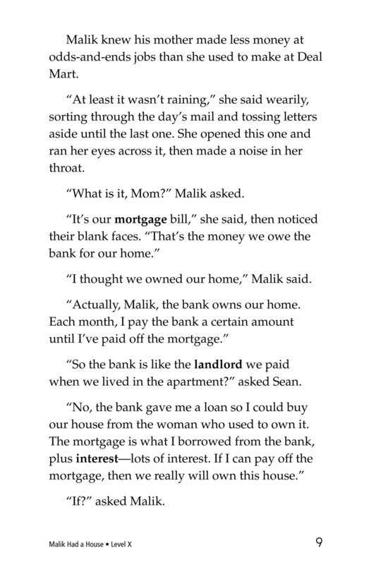Book Preview For Malik Had a House Page 9