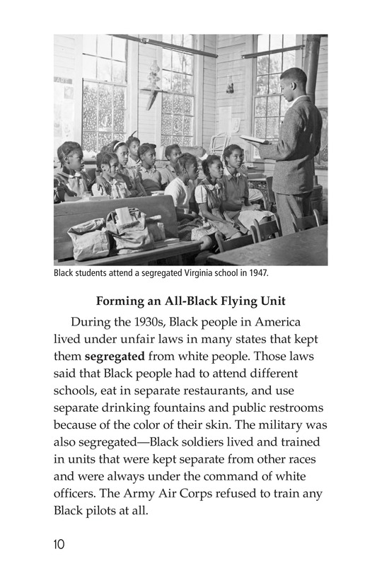 Book Preview For The Tuskegee Airmen Page 10