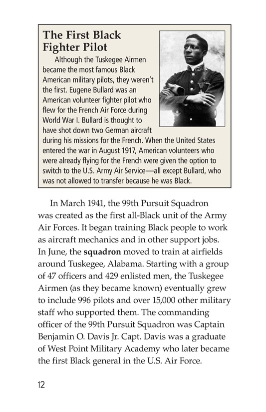 Book Preview For The Tuskegee Airmen Page 12