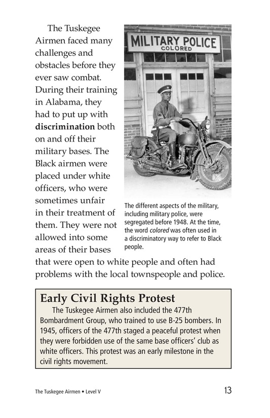 Book Preview For The Tuskegee Airmen Page 13