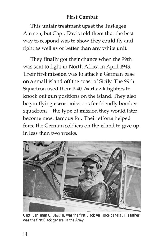 Book Preview For The Tuskegee Airmen Page 14