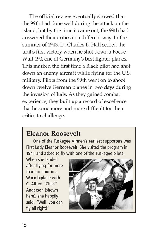 Book Preview For The Tuskegee Airmen Page 16