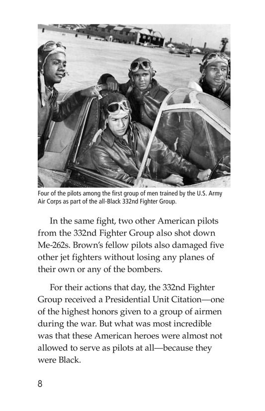 Book Preview For The Tuskegee Airmen Page 8