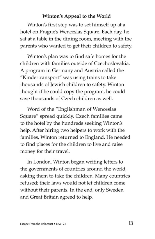 Book Preview For Escape From the Holocaust Page 13