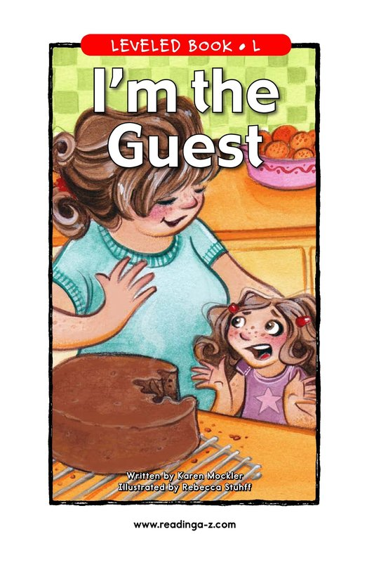 Book Preview For I'm the Guest Page 1