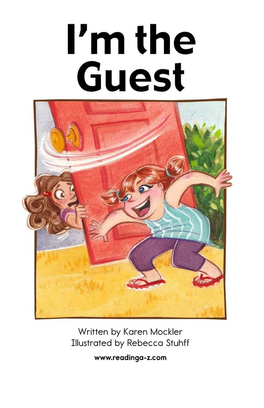 Book Preview For I'm the Guest Page 2