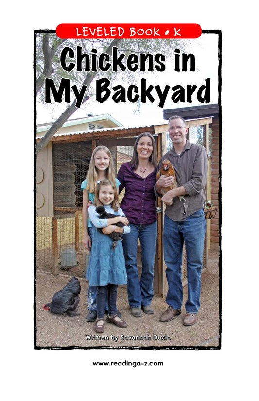 Book Preview For Chickens in My Backyard Page 1