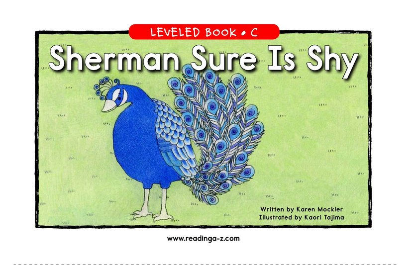 Book Preview For Sherman Sure Is Shy Page 1