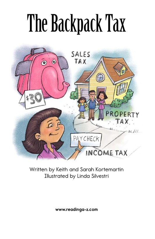 Book Preview For The Backpack Tax Page 2