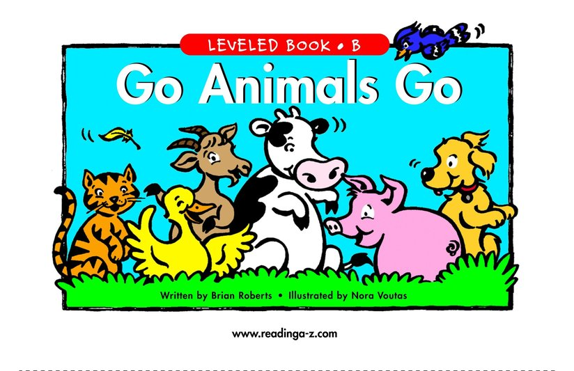 Book Preview For Go Animals Go Page 1