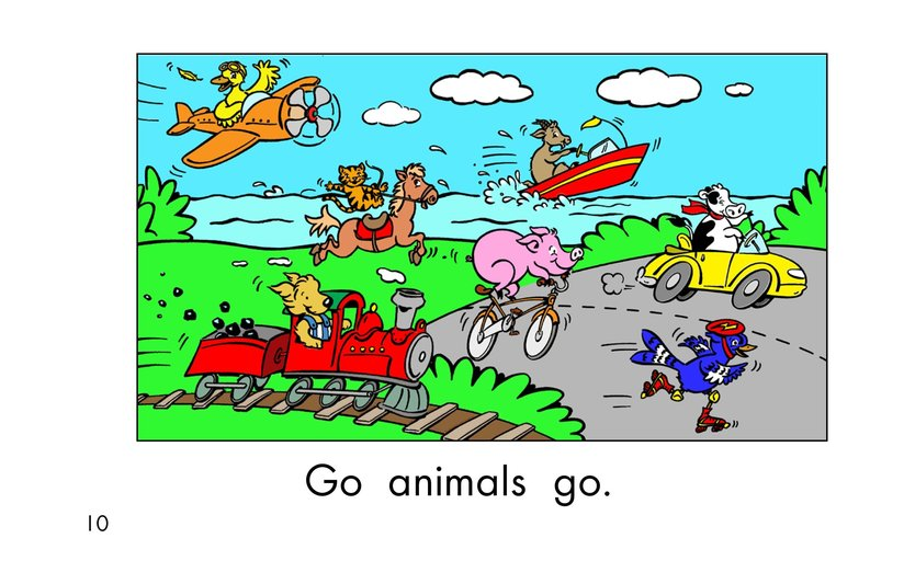 Book Preview For Go Animals Go Page 10