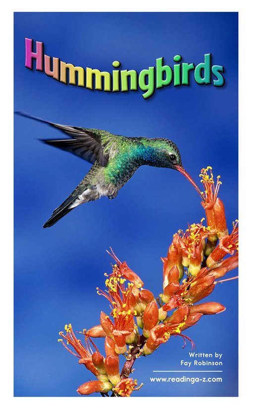 Book Preview For Hummingbirds Page 2