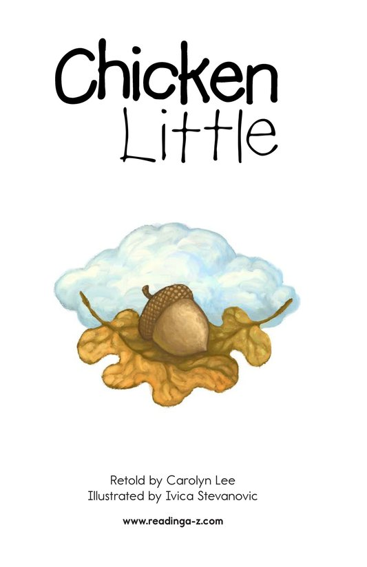 Book Preview For Chicken Little Page 2