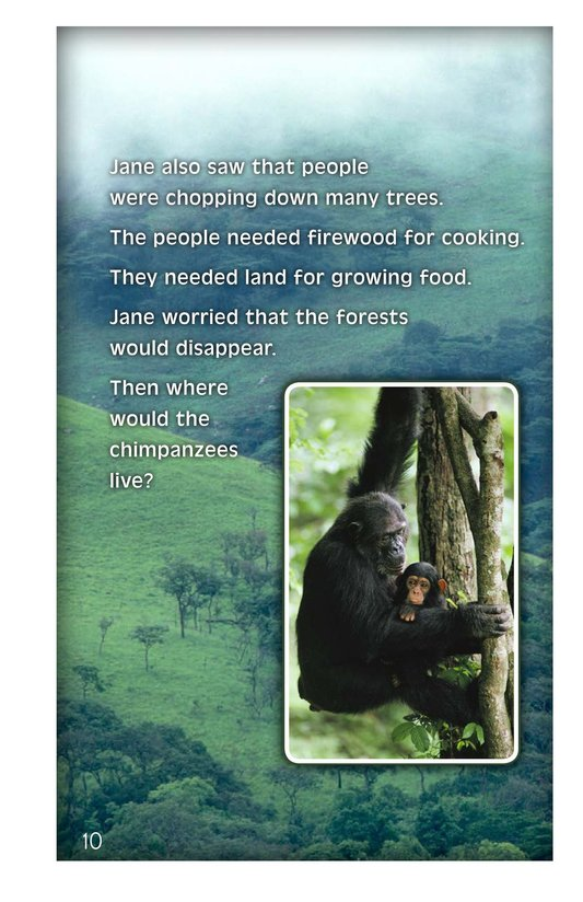 Book Preview For Jane Goodall: Friend of the Forest Page 10